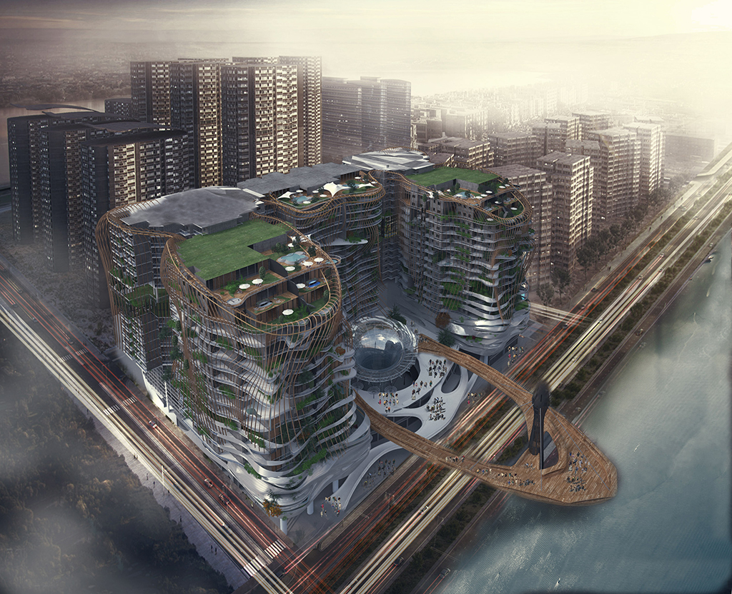 Complex Building by Mostafa Ahmad Afia