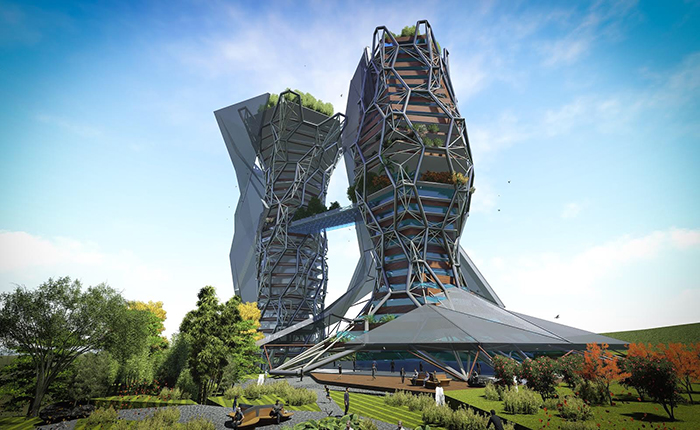 Biovular Tower designed by Cankat Seyret