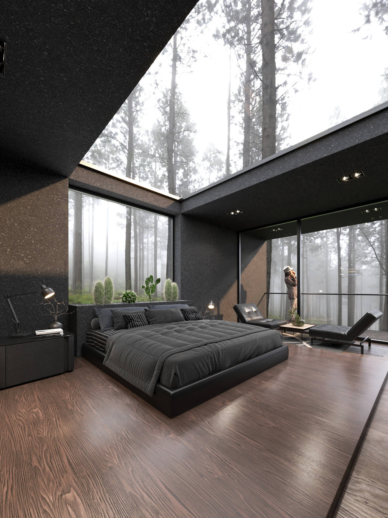 skylight over bed