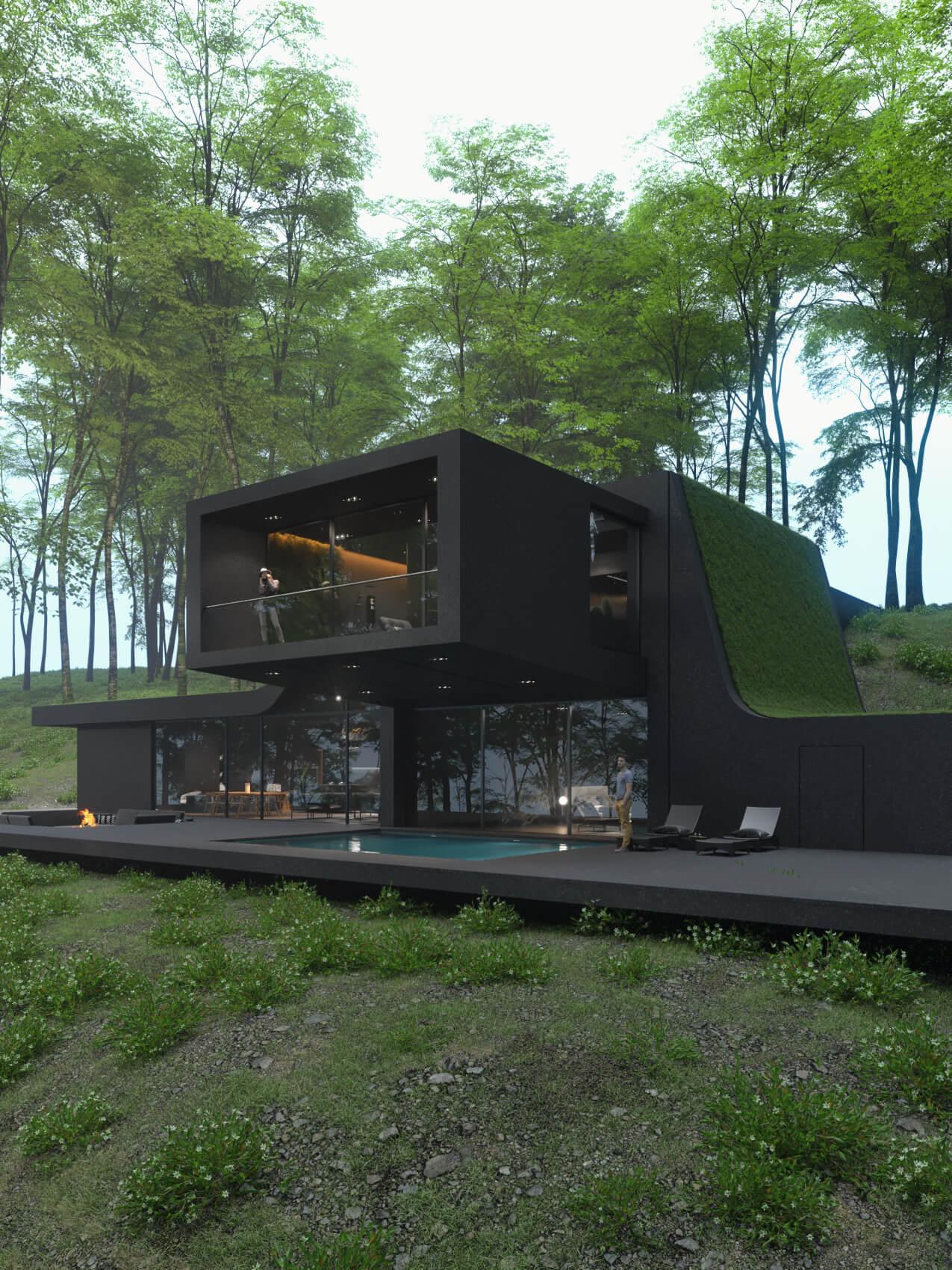 Sky Point Villa in Bedford Hills, New York, USA designed by Reza Mohtashami