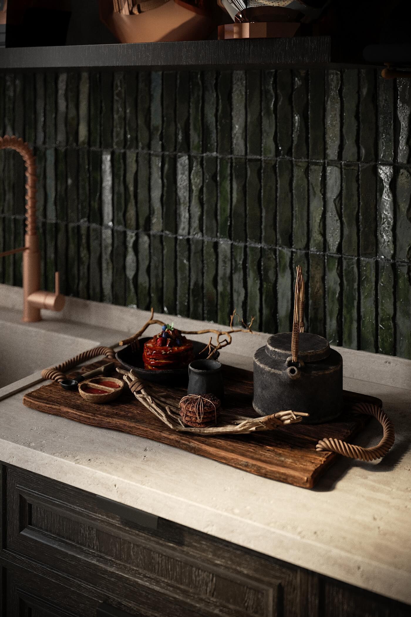 bồn rửa bếp làm bằng đá tự nhiên